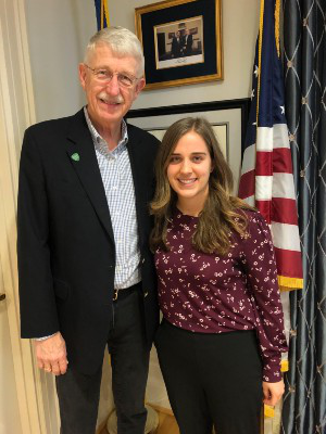 Coco Stewart with Francis Collins