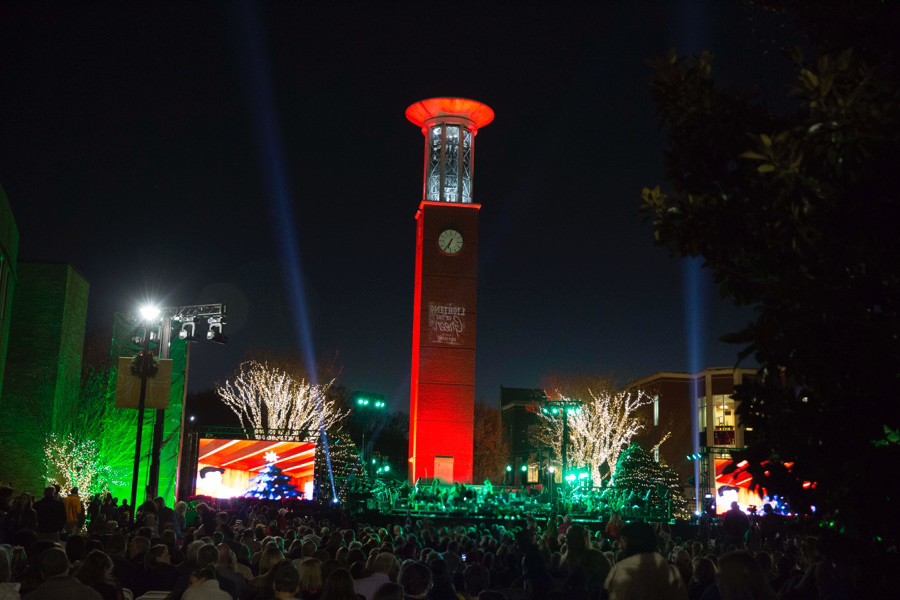 Lighting of the Green concert with Bell tower